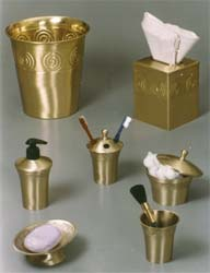 Bathroom Accessoreies in Brass Finish