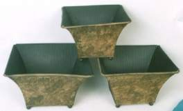 Iron Planter Set/3 Antique Finish