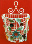 Iron Floral Handpainted Basket