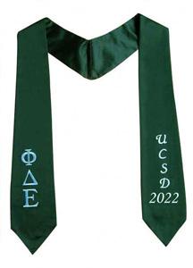 Graduation Stoles - 100% Polyester Satin Fabric
