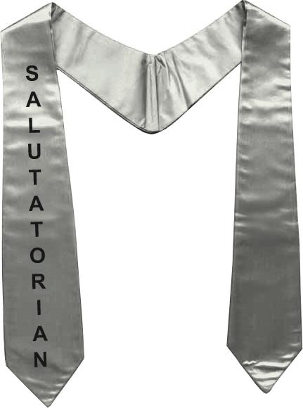 Graduation Stole Silver